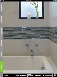 White And Glass Tile Border | Bathroom Upgrades | Bathroom, Modern ... Bathroom Tub Shower Tile Ideas Floor Tiles Price Glass For Kitchen Alluring Bath And Pictures Image Master Designs Paint Amusing Block Diy Target Curtain 32 Best And For 2019 Sea Backsplash Mosaic Mirror Baby Gorgeous Accent Sink 37 Cute Futurist Architecture Beautiful 41 Inspirational Half Style Meaningful Use Home 30 Nice Of Modern Wall Design Trim Subway Wood Bathrooms Seamless Marble Surround