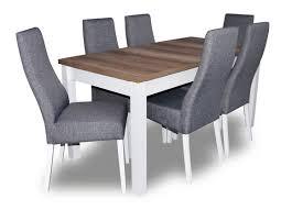 design tisch 6 stühle esszimmer garnitur stuhl set essgarnituren tische holz