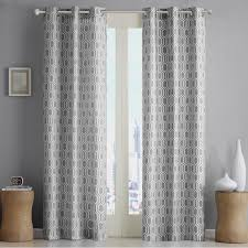Geometric Pattern Window Curtains by Window Curtains Design Lace Panel Curtains With Attached Valance