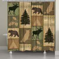 Rustic Shower Curtains Bathroom Decor Elk Decor Moose Decor