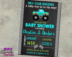 Monster Truck Baby Shower Invitation - Forever Fab Boutique Birthday Cards Boys Monster Trucks Truck Nestling Party Invitations Invitation Examples Truck Racing Car 2 3 Etsy 13 Best Jam Inspirational Amazon Lovely Cyclops 19 Mormotanet Pink Svg File With Hearts To Make Shirts Invitations Invite Naptime Serenity Invites Unique Of Blaze And The Templates Free Printable Free