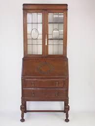 oak writing bureau uk vintage oak bureau bookcase writing desk 286164