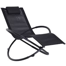 Outsunny Orbital Sun Lounger Rocking Chair Outdoor Zero Gravity Folding W/  Pillow Black Durogreen Classic Rocker Black 3piece Plastic Outdoor Chat Set Presidential Recycled Wood Patio Rocking Chair By Polywood Shop Intertional Concepts Slat Seat Palm Harbor Wicker Grey At Home Trex Fniture Yacht Club Charcoal Americana Style Windsor Jefferson Woven With Tigerwood Weave Colby Cophagen Cushioned Rattan Armchair Glider Lounge Cushion Selections Chairs At Lowescom