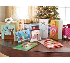 Qvc Christmas Trees Uk by Hallmark 24ct Handcrafted Embellished Boxed Card Set W Storage