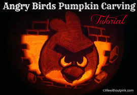 Dremel Pumpkin Carving Tips by Angry Birds Pumpkin Carving Tutorial Video Life Without Pink