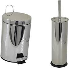 homeline badezimmer set 3 liter edelstahl tret abfalleimer