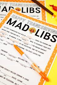Halloween Mad Libs Free by Thanksgiving Mad Libs Printable Happiness Is Homemade