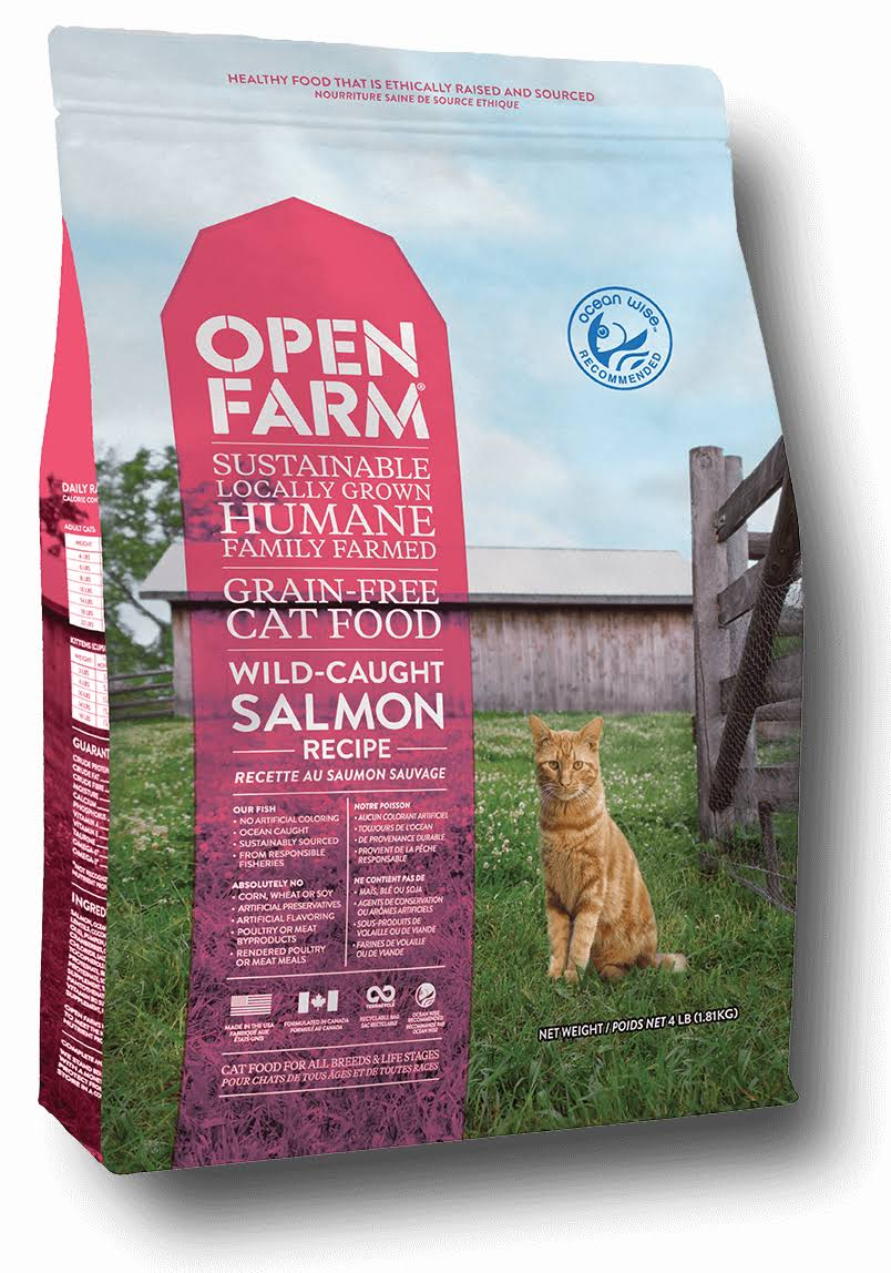 Open Farm Grain Free Wild Caught Salmon Recipe Dry Cat Food 4-lb