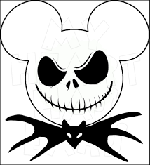 Minnie Mouse Pumpkin Designs by Mickey Mouse Dressed As Jack Skellington Instant Download Digital