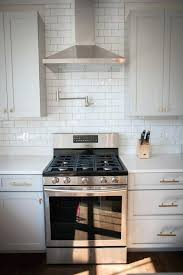 Stove Faucet White Paint Kitchen Cabinet With Modern Kitchen Stove