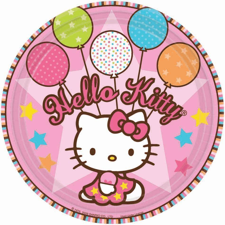 Amscan Hello Kitty Balloon Dreams Paper Plates - 8 x 18cm