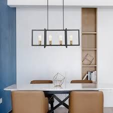 Kitchen Island Ls Geometric Modern Industrial Chandelier Ls C249 Bk Light