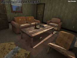Rundown Apartment 3D Models Imaginary House