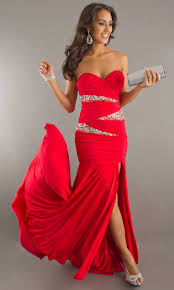 a long strapless gown in an a line cut is just one way to dress