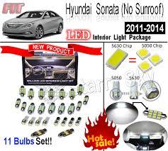 11pcs white 5630led interior light kit for hyundai sonata no