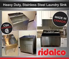 Stainless Steel Utility Sink Canada by Ridalco Stainless Steel Laundry Sinks Ridalco Stainless Steel