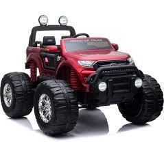 100 Kids Monster Trucks Ford Ranger Ride On Truck 4Wd Metallic Red