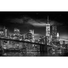 cadre de new york en noir et blanc achat vente cadre de new