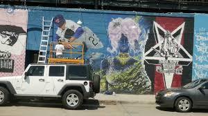 Deep Ellum Wall Murals by New Mural Brings Sports History To Deep Ellum Youtube