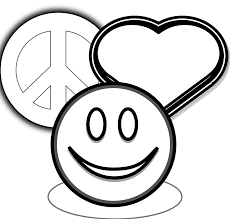 Surprising Love And Peace Sign Coloring Page With Pages