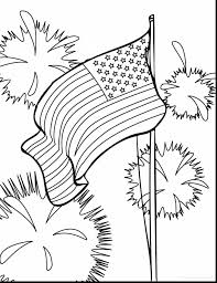 Brilliant Fourth Of July Coloring Pages With American Flag Page And