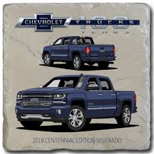 2018 Centennial Edition Silverado - Chevy Trucks 100 Stone Coaster ... This Is What A Century Of Chevy Trucks Looks Like Automobile Magazine For Sale Hickory Nc Dale Enhardt Chevrolet The Colorado Xtreme Truck Is The Future Pickups Maxim Akron Oh Vandevere New Used Pickup Relive History Of Hauling With These 6 Classic Crate Motor Guide 1973 To 2013 Gmcchevy 2018 Midsize 9 Most Expensive Vintage Sold At Barretjackson Auctions Celebrates 100 Years Trucks By Choosing 10 Mostonic Celebrating A Dependability Custom 1950s For Your Allnew 2019 Silverado