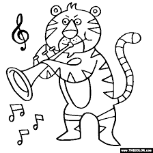 Tiger Trumpet Coloring Page