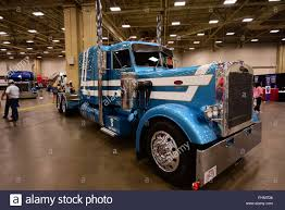 100 Dallas Truck Show Blue And White Peterbilt Truck Is Displayed At The 2018 Great