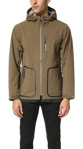 snow peak 3l rain jacket in green for men lyst