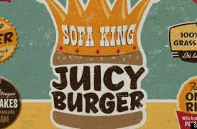 foodista sofa king juicy burger is expletive yet comfy