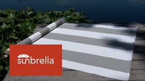 Video Of Sunbrella Manhattan Fog Awning Stripe Fabric 4876-0000 ... Sunbrella Awning Stripe 494800 Sapphire Vintage Bar 46 Fabric 494600 Blacktaupe Fancy Video Of Yellow White 6 5702 Colonnade Juniper 4856 46inch Striped And Marine Outdoor Forest Green Natural 480600 Awnings Porch Valances Home Spun Style This Awning Features Westfield Mushroom Milano Charcoal From Fabricdotcom In The