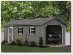 pact 2 car garage with flat roof 2 Story Garage