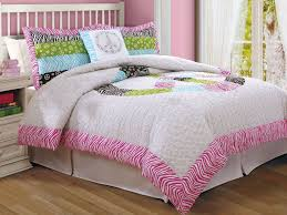 Peace sign bedding forter set in zebra and pinks in Twin and