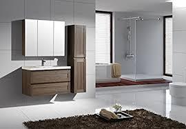 jindoli badezimmermöbel set 100 cm braun mit 1 waschtisch