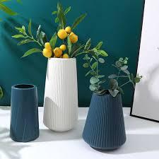 vasen für dekoration hause kunststoff vase weiß blau blume