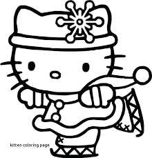 Free Collection Of 40 Christmas Kittens Coloring Pages