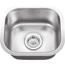 Home Depot Bar Sink Strainer by Elkay Dayton Drop In Stainless Steel 15 In 1 Hole Bar Sink