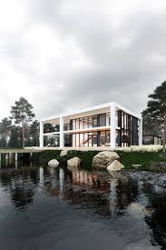 100 Glass House Architecture RIVER GLASS HOUSE On Behance
