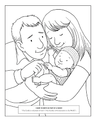 Family And Baby Coloring Pages