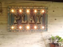 light up sign play fairground lights circus lights marquee