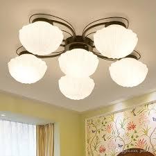 großhandel vintage metall glas schatten deckenleuchte leuchte schlafzimmer esstisch hängele einbau amerikanische kronleuchter led le licht