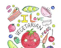 Vegetarian Coloring Book For Adults Or Kids