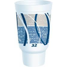 32AJ20E 32 oz Customizable Impulse Foam Cup Fits Cupholder