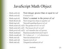 math ceil floor javascript strings math and dates javascript 2 objectives how to modify