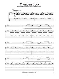 thunderstruck sheet music direct