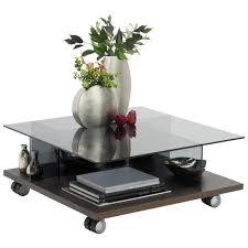ambiente by hülsta couchtisch eiche furniert rechteckig grau eichefarben ct 160 holz glas 80x33 cm echtholz 000351003140