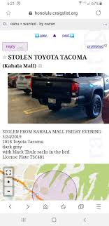 100 Craigslist Oahu Trucks Stolen Tacoma Tacoma World