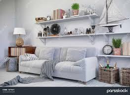 skandinavisches nordisches wohnzimmer einem mit مبل و
