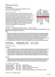 Catering Manager CV Template Food Preparation Job Description Career Advice Example CVs