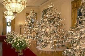 The Christmas Decorations In East Room Of White House Press Was Allowed